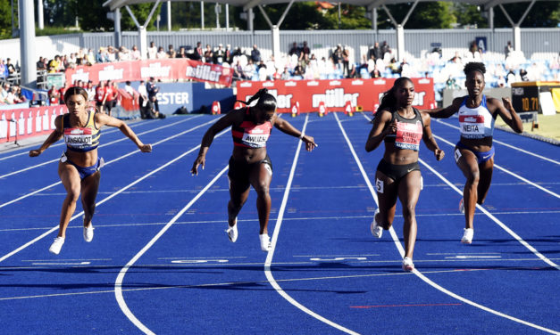 Clock strikes on Dina Asher-Smith's British record bid