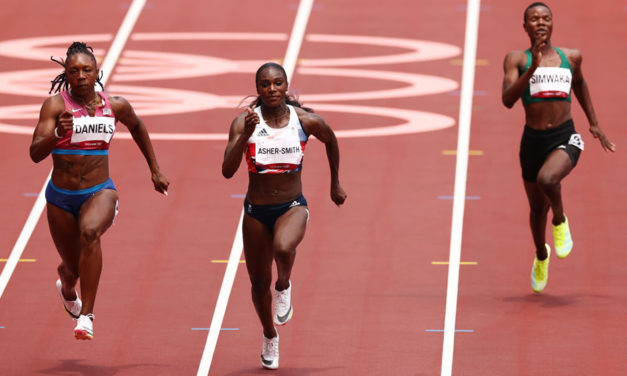Dina Asher-Smith opens Olympic campaign in smooth style