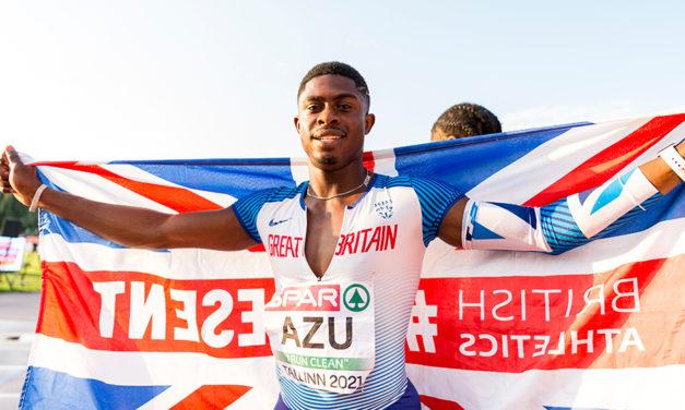 Gold for sprinter Jeremiah Azu in Tallinn