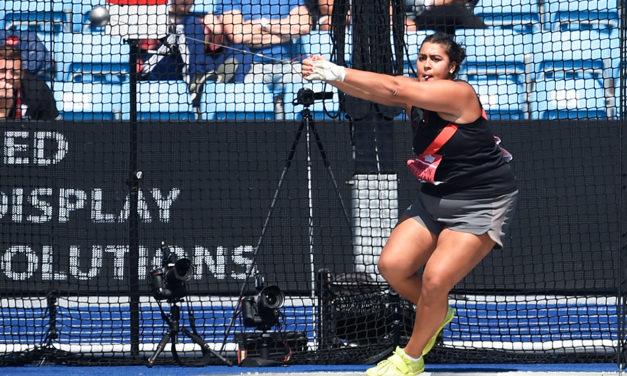 Hammer thrower Tara Simpson-Sullivan is making her mark