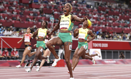 Thompson-Herah breaks Olympic record to retain 100m title