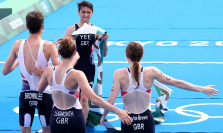 Gold for Brits in Olympic triathlon mixed relay