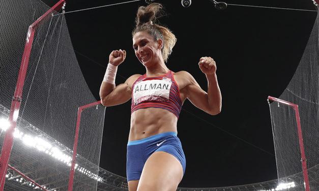 Valarie Allman lands USA's first athletics gold in Tokyo