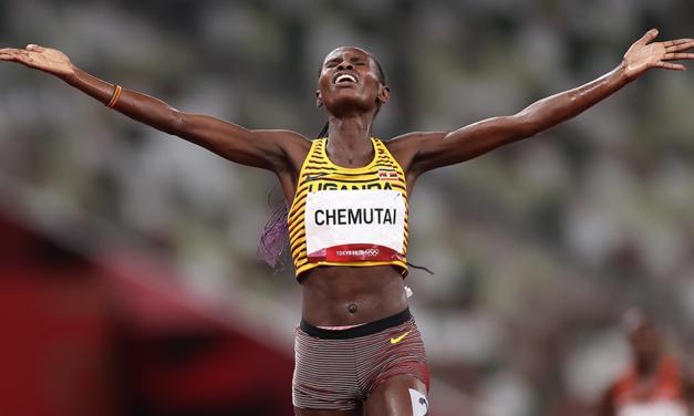 Peruth Chemutai wins steeplechase with Lizzie Bird smashing UK record