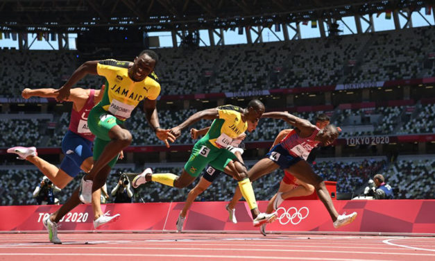 Jamaicans stun the Americans in sprint hurdles Olympic final