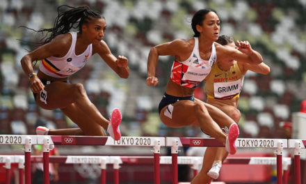 Nafi Thiam leads heptathlon after two events