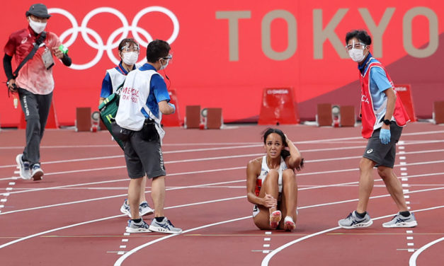 KJT's heptathlon ends in Tokyo with injury