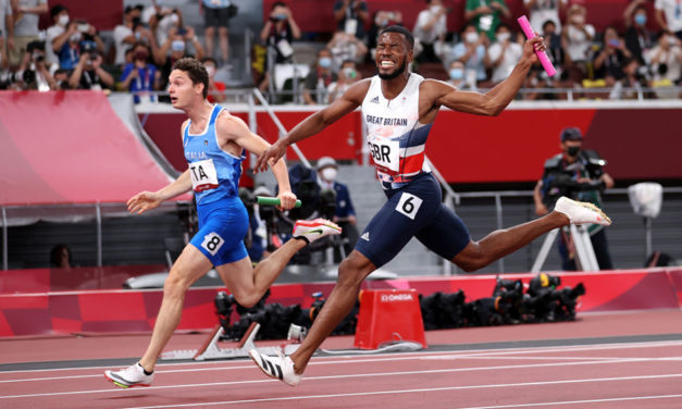 Italy pip Britain to men's Olympic 4x100m title
