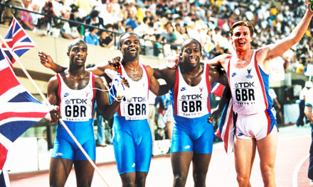 Relay legends look back at Tokyo triumph from 1991