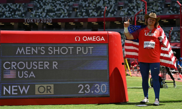 Ryan Crouser supreme with Olympic record 23.30m