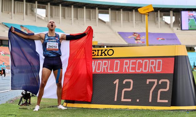 Sasha Zhoya improves world junior sprint hurdles record to 12.72
