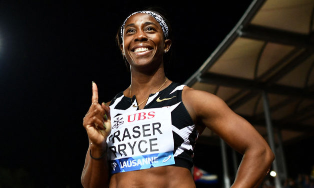 Shelly-Ann Fraser-Pryce goes No.3 all time at 100m