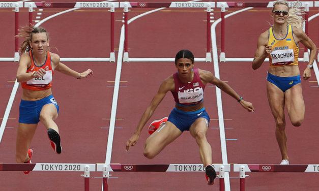 Sydney McLaughlin wins 400m hurdles showdown in world record