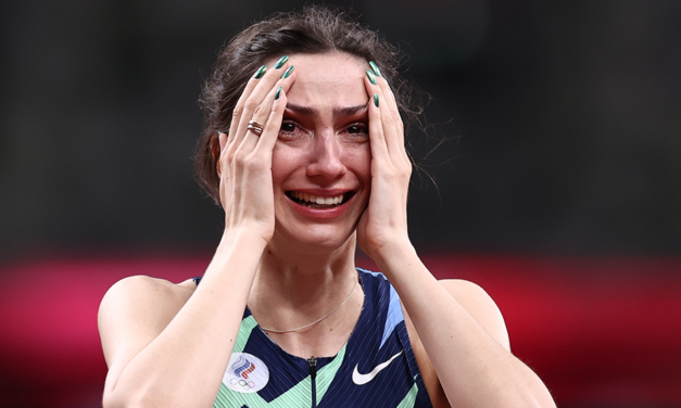 High jumper Lasitskene wins fourth global gold and first Olympic title