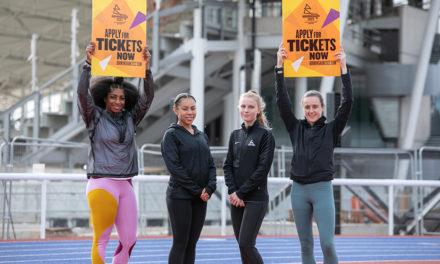 Laura Muir and Kadeena Cox give thumbs up to Alexander Stadium progress