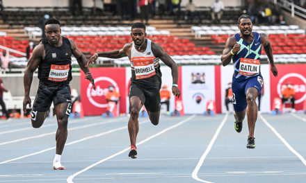Bromell and Omanyala speed to fast 100m times in Nairobi