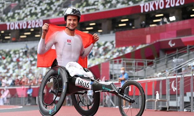Silver bullet Marcel Hug wins gold No.4 in Tokyo