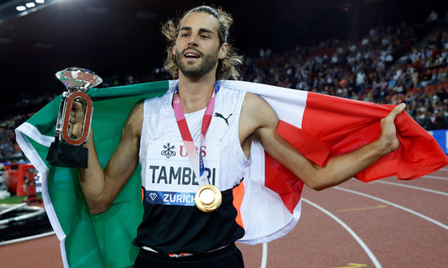 Tamberi turns on the style in Zurich