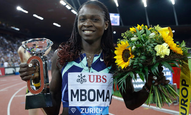 Fast times for Mboma and Thompson-Herah at Diamond League final