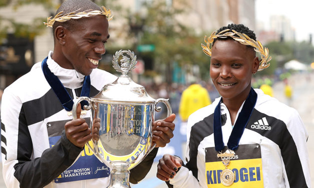 Kenyans dominate Boston Marathon