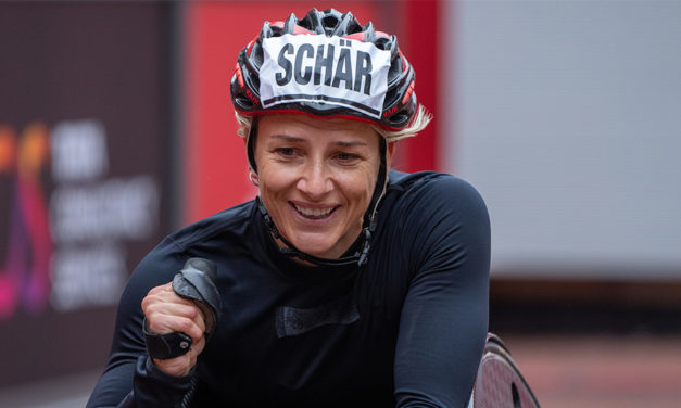 Manuela Schär and Marcel Hug break course records at London Marathon